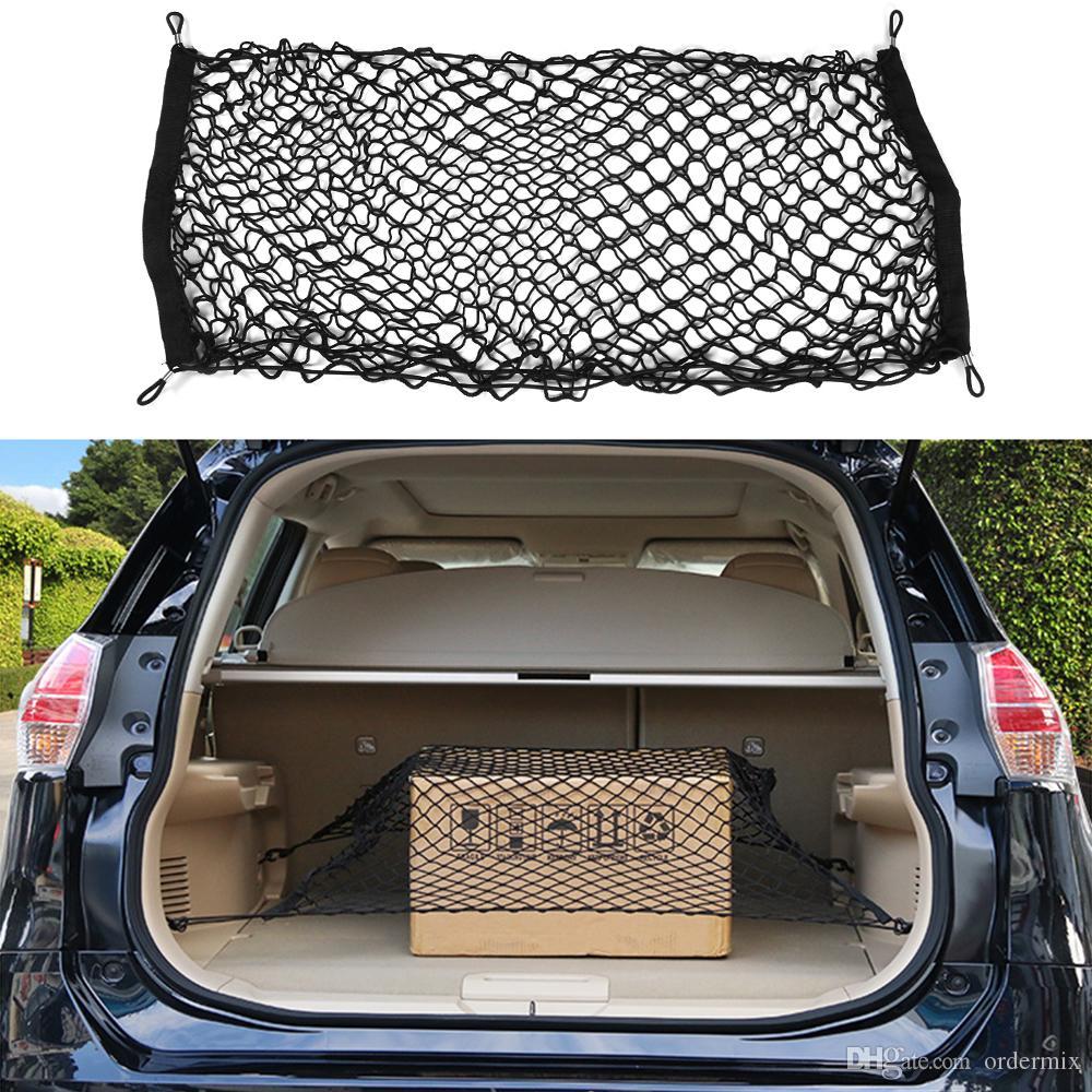 90x40 سنتيمتر جذع السيارة الخلفي البضائع المنظم التخزين مرنة الناقل شبكة صافي النايلون أكياس تخزين السيارة الداخلية تستيفها
