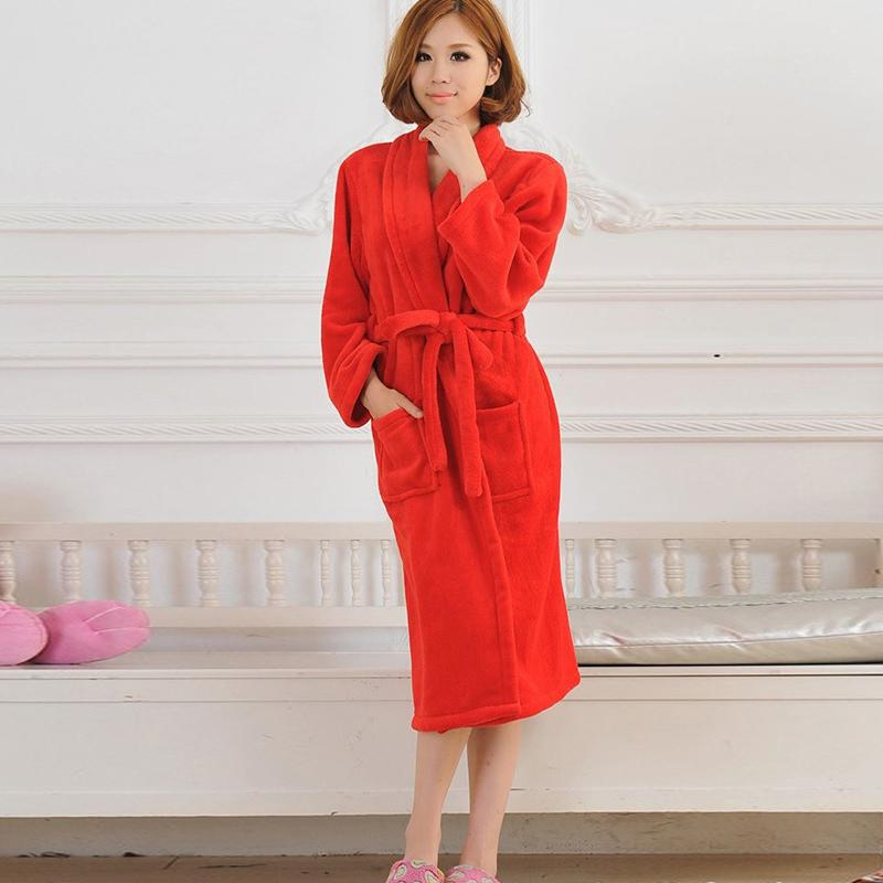 a7c7a16d1d7b 2019 Coral Velvet Flannel Women And Men Wrap Bathrobe Lace Up Soft Thicken  Couple Warm Home Clothes 2018 Autumn Winter Loves Nightie From Lucycloth