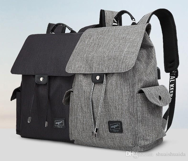 1aaedcbf1294 2018 Computer Shoulder Bag Outdoor Sports Travel Backpack Schoolbag  Knapsack Canvas Pure Color Men And Women School Bags Handbag A967  Burton  Rucksack ...