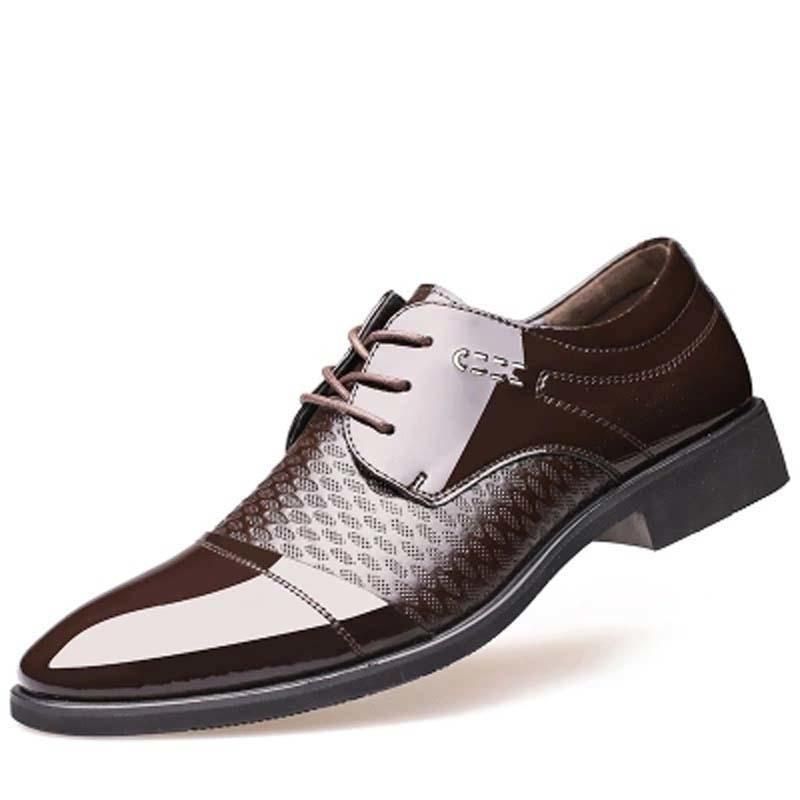 2018 New Arrival Retro Men Oxfords Shoes Shiny Patent Leather Pointed Toe Dress  Shoes Mens Wedding Calcados Black Burgundy 321 Casual Shoes Casual Shoes  For ...