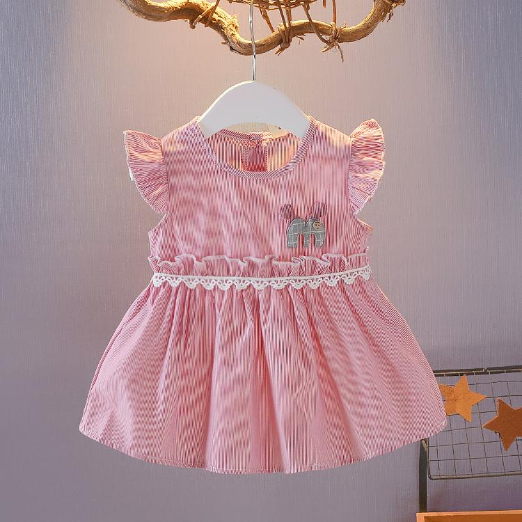 71ace51e2e02 2019 High Quality Baby Cotton 0 1 Year Old Baby Girl Summer Dress Princess  Cute Girl Wear Summer From Babyeden
