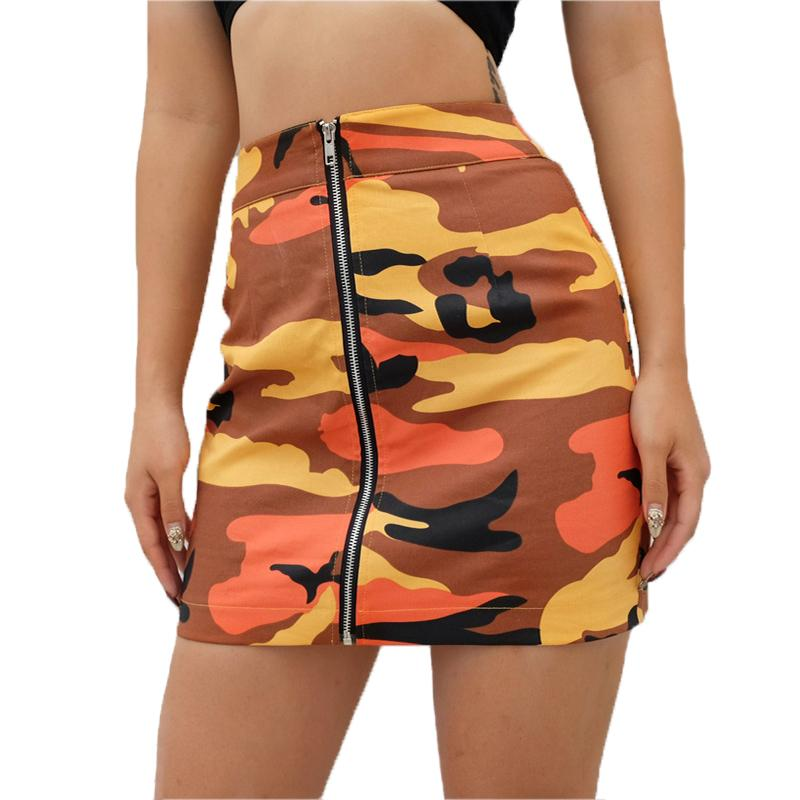 11dc611d57bc1d 2018 Nouvelle Femme Hanche Camouflage Motif Jupe Femmes Sexy Mini Jupe  Zipper Sac Hip Taille Haute Crayon Jupe 718513