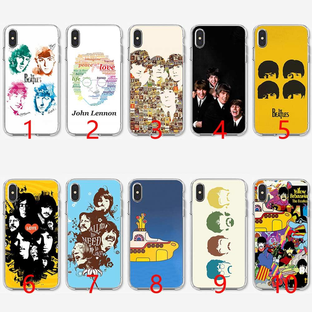 online store be494 e12a8 Rock and Roll Band the beatles lyrics music Soft Silicone TPU Phone Case  for iPhone 5 5S SE 6 6S 7 8 Plus X XR XS Max Cover