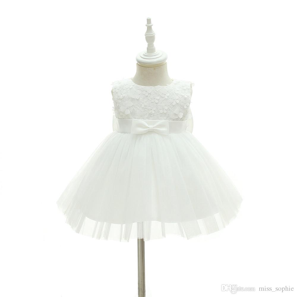1c476872eebb 2019 2018 New Design Baby Girl Baptism Gowns Christening Dress Girls Dresses  Lace Tulle Baby Princess Dresses Newborn Wedding Clothes From Miss_sophie,  ...