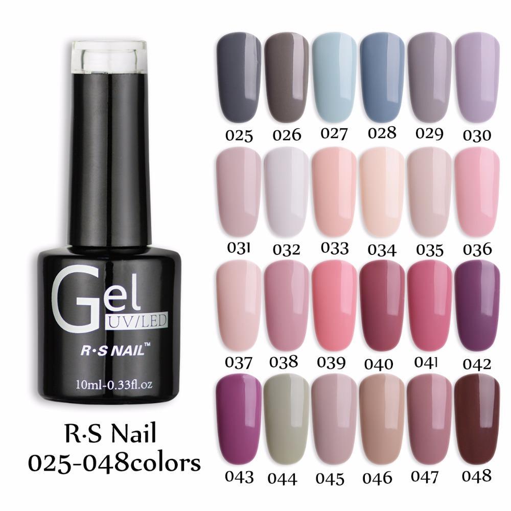 RS Nail One Step Uv Color Gel Nail Polish 3 In 1 Gel #025 048 Long ...
