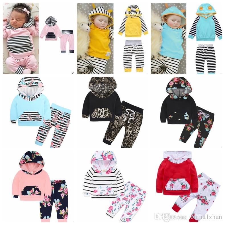 f6fc0d342 2019 Ins Kids Clothing Sets Baby Boy Striped Hoodie Coats Pants Set Long  Sleeve Kids Pullover Christmas Baby Clothes 34 Designs DHT493 From  China1zhan, ...