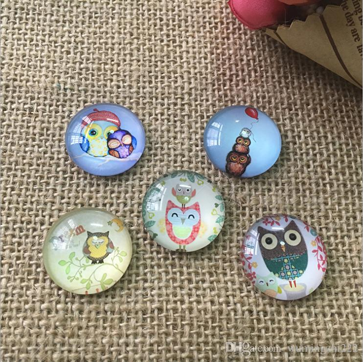 2018 HOT selling Lovely owl galss Snap button Charm Popper for Snap Jewelry picture pendant