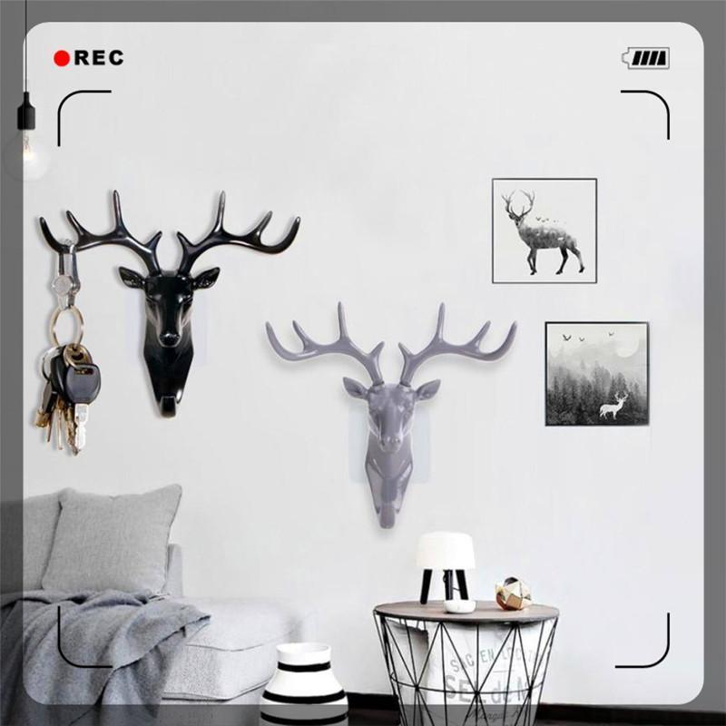 Best Ishowtienda Home Wall Hanging Hooks Deer Head Self Adhesive ...