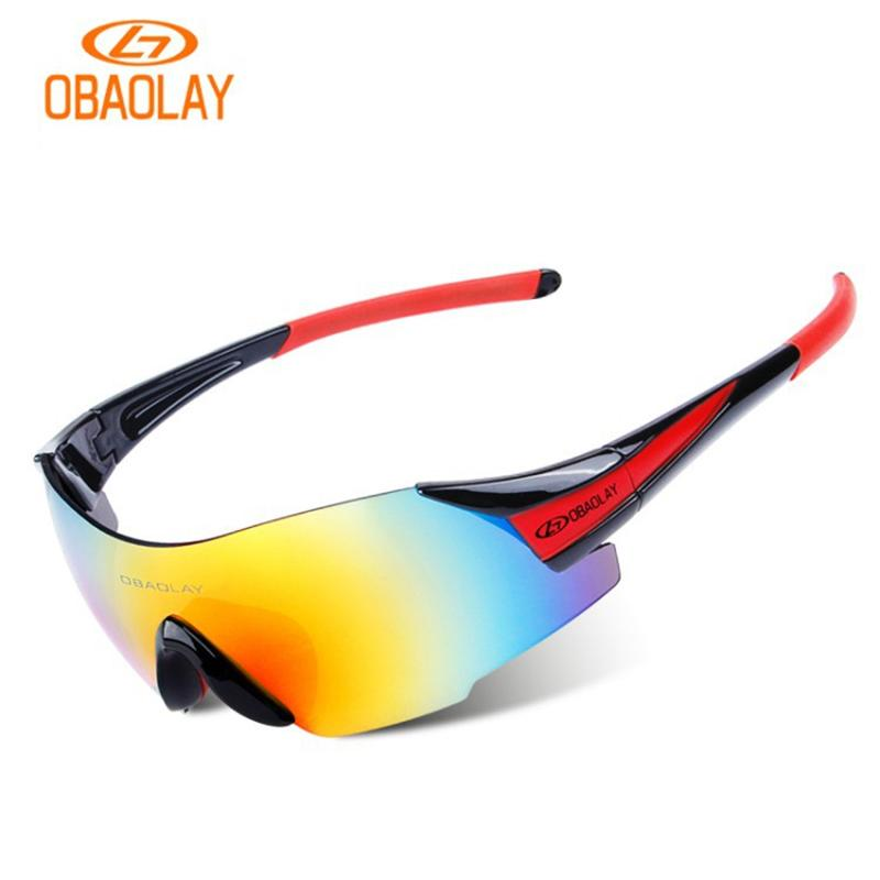 62f9fe05e3a 2019 OBAOLAY UV400 Cycling Glasses Outdoor Sport Protection Bike Bicycle  Eyewear MTB Motorcross Sunglasses Men Oculos Ciclismo From Jaokui