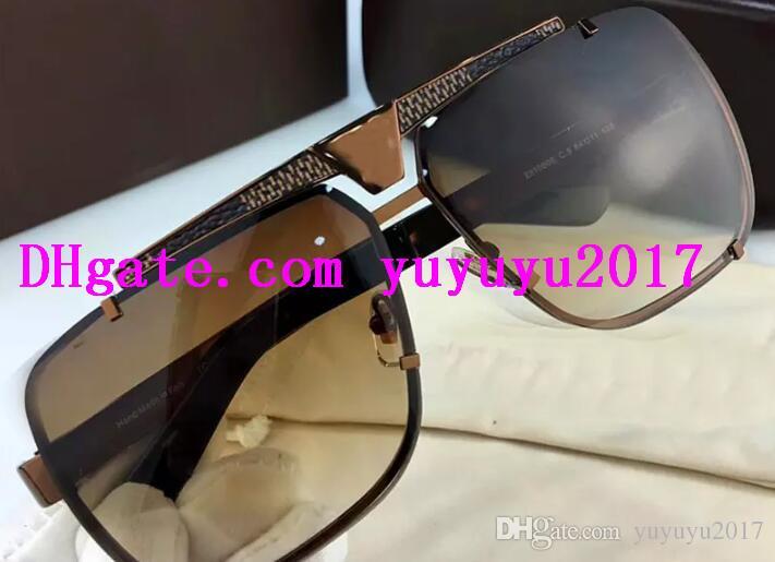 ef8dfa2ca2e 2018 Vintage Designer Sunglasses Classic Square Metal Frameless Top ...
