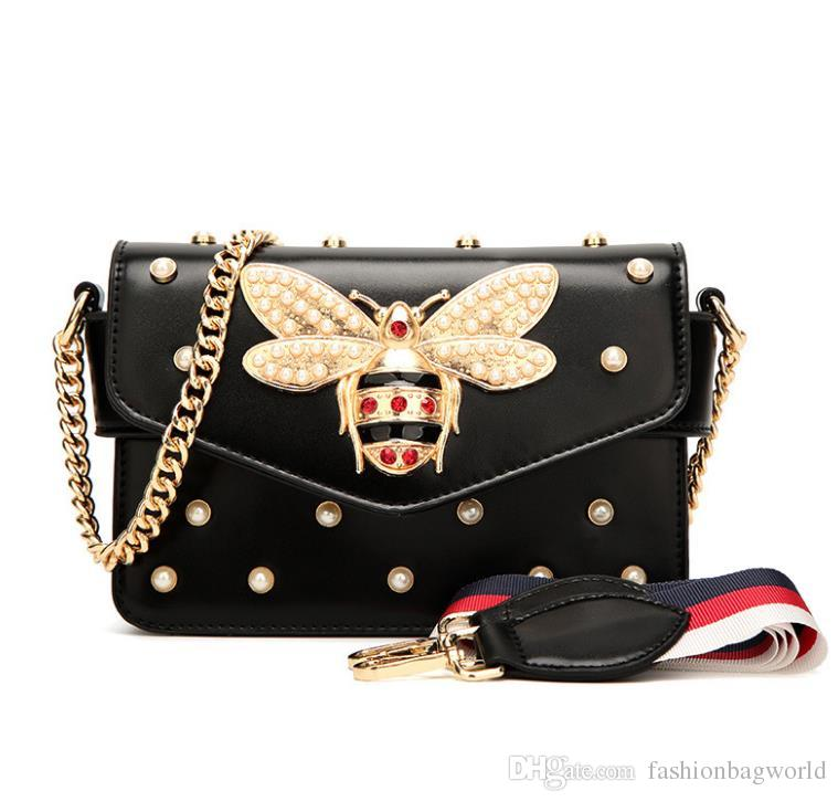 2019 The Women Small Pearl Decoration Special Handbag Popular Design Trend Mini Shoulder Bag Vintage Evening Party Clutch Purse Shoulder Bags Women's Bags