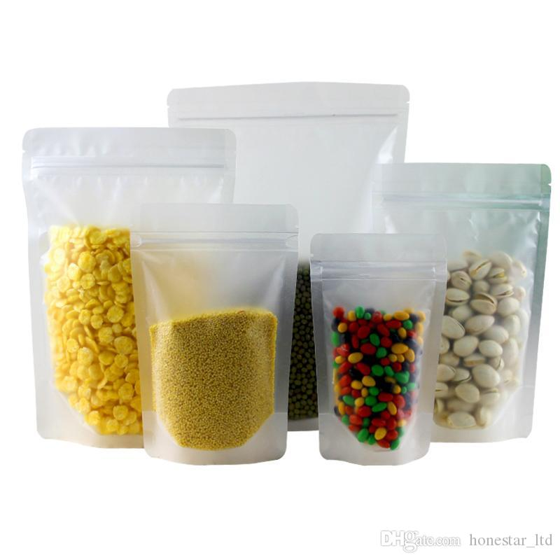 Frosted Clear Plastic Zip Lock Packing Bag Stand Up Pouch Resealable  Doypack Zipper Food Coffee Storage Packaging Bag Online With $0.8/Piece On  ...