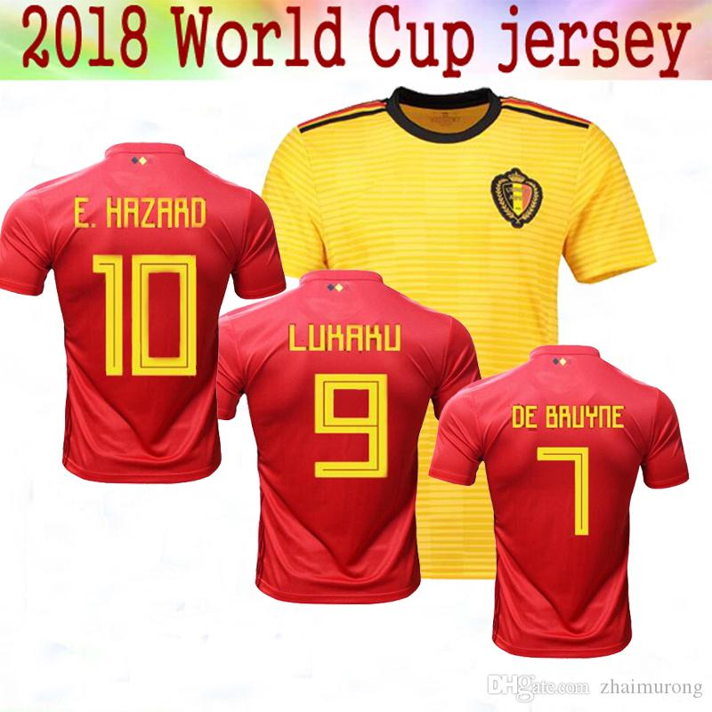 a4a64d20dbb Thail Quality 2018 World Cup Belgium Soccer Jersey 2018 Home Away ...