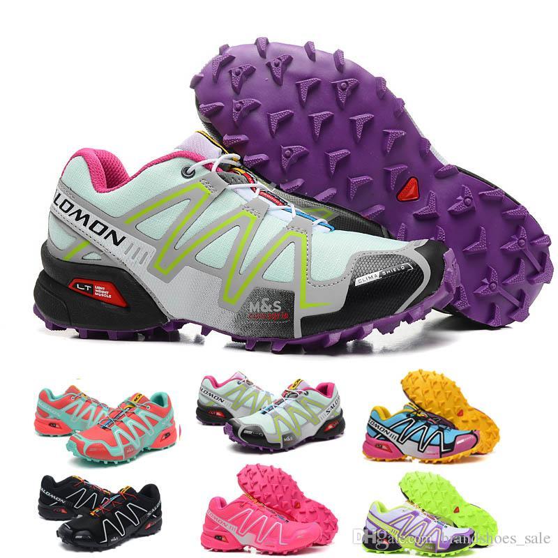 7e7c5d405da4 2018 Salomon Women Shoes Zapatos Hombre Speed Cross 3 CS III Sport Sneakers  Women Speed Cross Solomon Outdoor Jogging Walking Shoes 36 40 Mens Sneakers  ...
