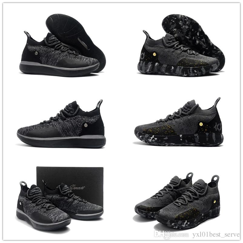 the latest 2b6ac 8950b 2018 New KD XI Twilight Gold Point Kevin Durant 11 Basketball Shoes For High  Quality Black Grey Mens Trainers Designer Sneakers EUR 7 12 Low Top  Basketball ...