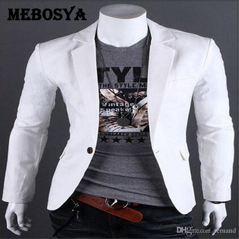 2019 Wholesale Mebosya 2016 White Blazer Men S Linen One Button