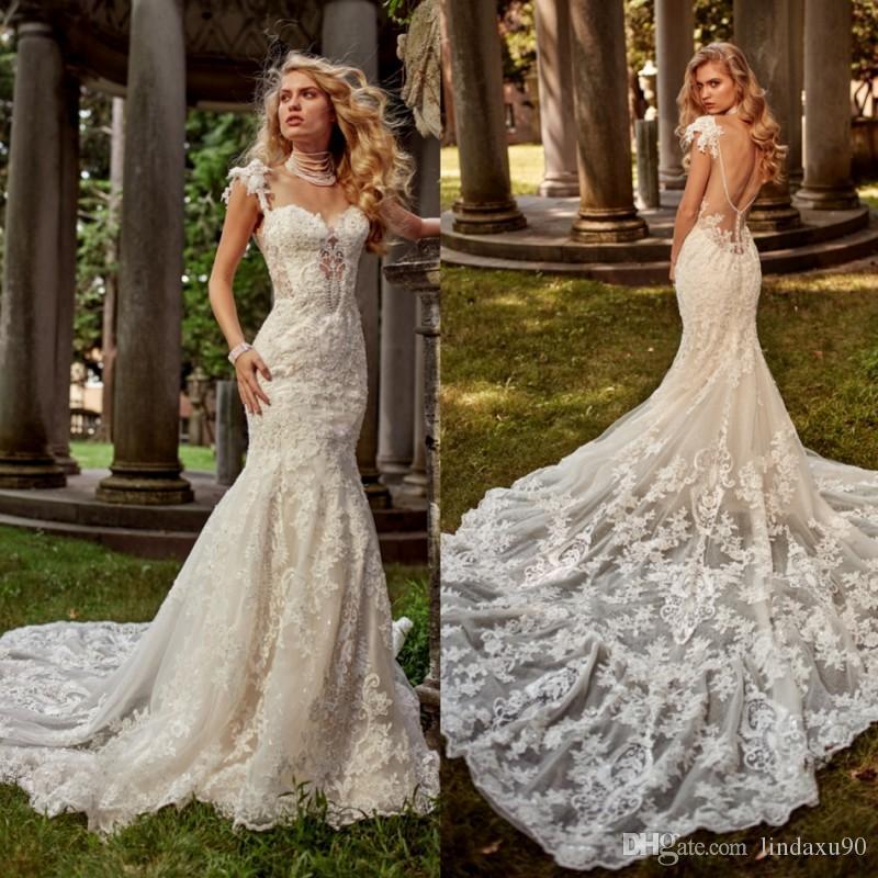 eve of milady mermaid 2019 wedding dresses full lace appliqued