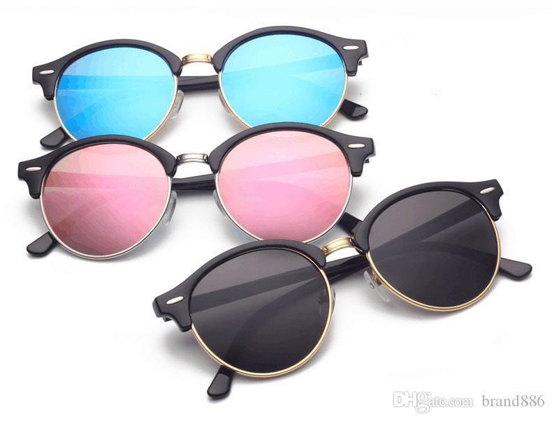 615f19c66b6 Brand Designer Sunglasses Men Women Authentic Round Sun Glasses New Arrival  Sunglasses Plank Frame Flash Mirror Lenses With Cases Glass Frames Online  ...