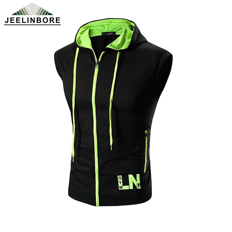 bcb996b78fd Wholesale 2016 Brand Fashion Men Hooded Hoodies Knitted Sleeveless Slim Fit  Sweatshirt Jacket Vest Plus Size M 3XL UK 2019 From Jiushai