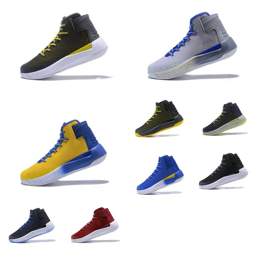 4fd995973a30 2019 Cheap UA Men Curry 3.5 Basketball Shoes Black Blue Red Yellow Grey  White Stephen Currys 3 Zero Elite High Top Sneakers Boots Tennis For Sale  From ...