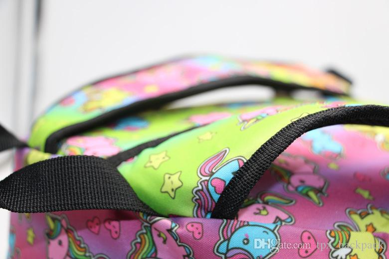 Zaino color neon Zaino stile lolita Zaino scuola ragazza unicorno Zaino casual Zaino di qualità Zaino sportivo Zaino da esterni