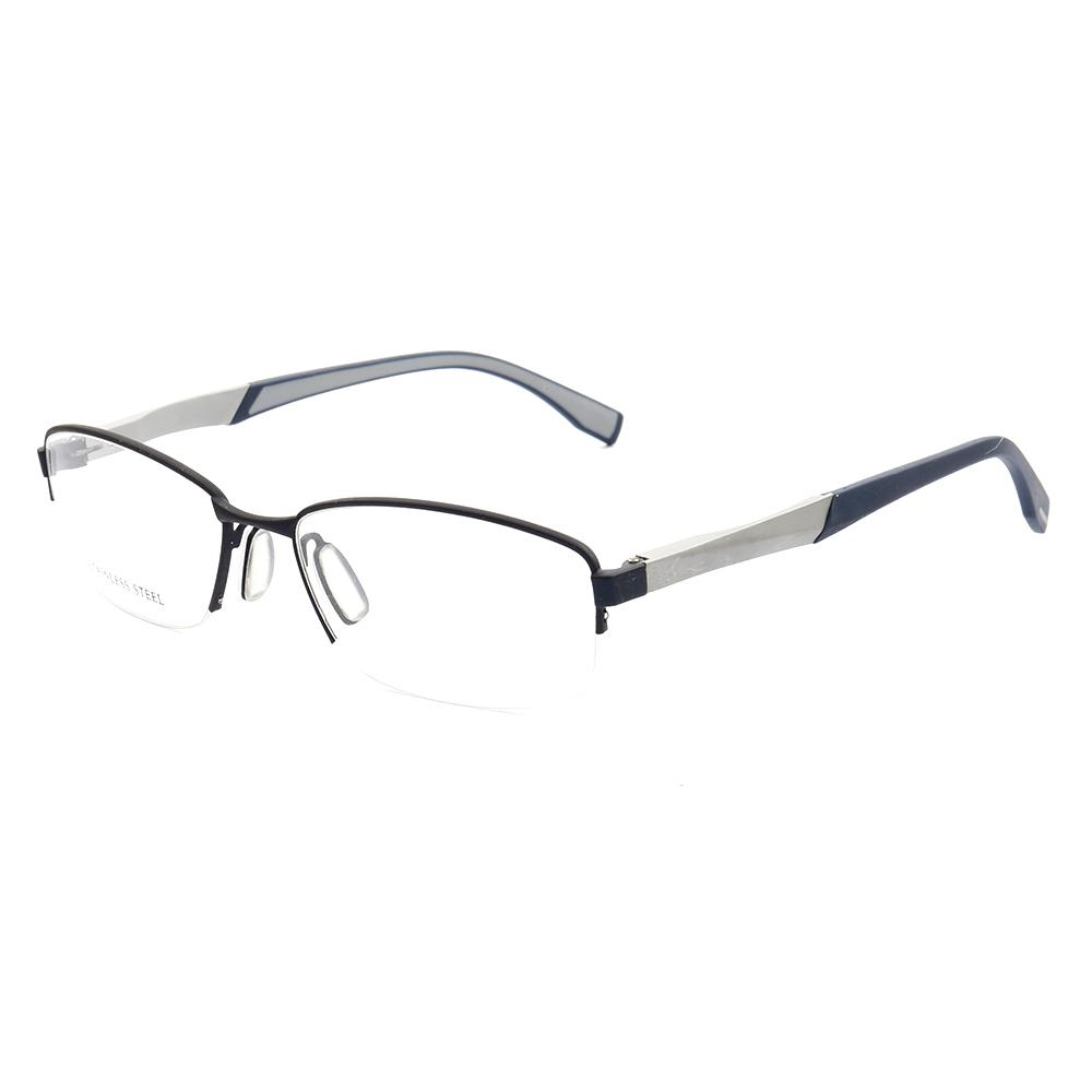 Sunshine Spot High-end Men s Business Half-frame Glasses Frame New ... 19d19befcf
