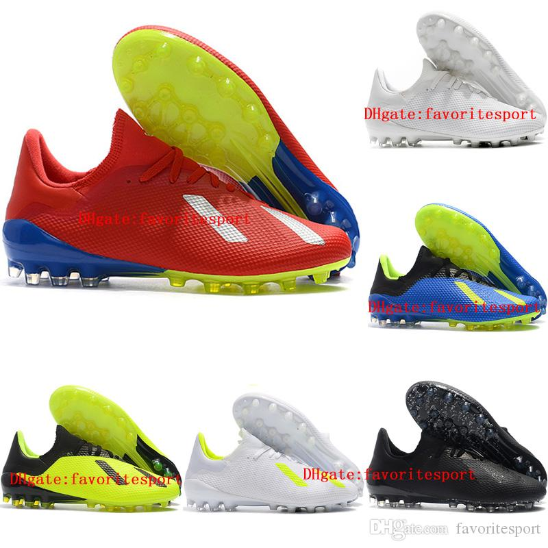 72315bd4b115 2018 Leather Soccer Cleats X 18 AG Soccer Shoes Mens Football Boots X 18.1  Cheap Scarpe Da Calcio Blackout New Arrival Western Boots Shoe Shops From  ...