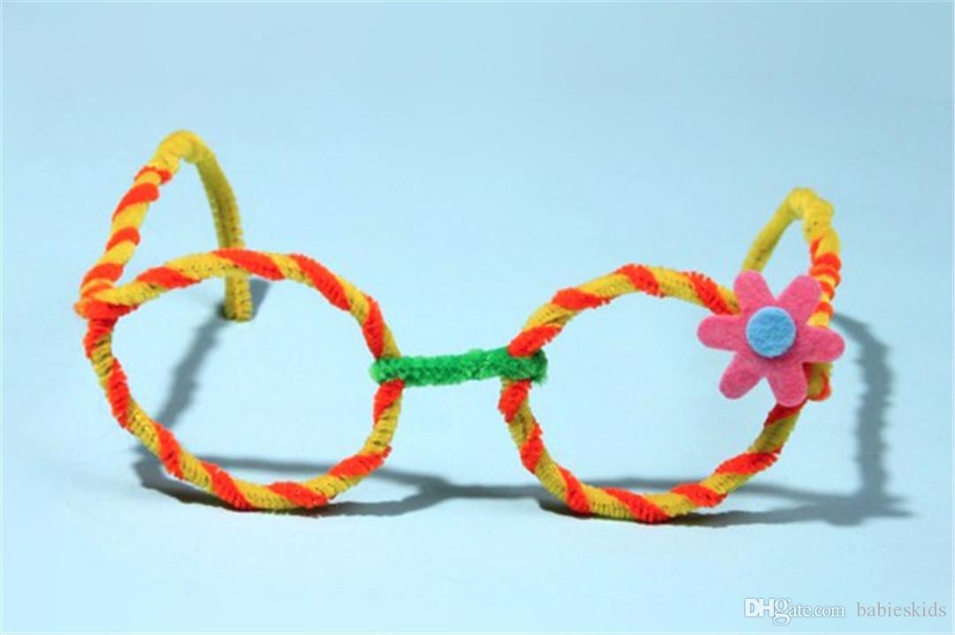 New Creative Montessori Math Educational Toy Chenille Sticks Puzzle Craft Children Kid Pipe Cleaner Stems Craft Creative Toys