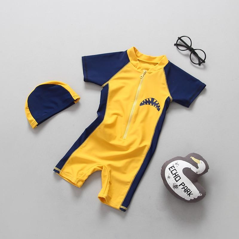 34124e51b5 2019 2018 Boy Swimsuit Boy Sun Protection UV Short Sleeved Baby Shark  Conjoined Swimsuit Surfing Costume Baby Swimwear From Namenew, $37.56 |  DHgate.Com