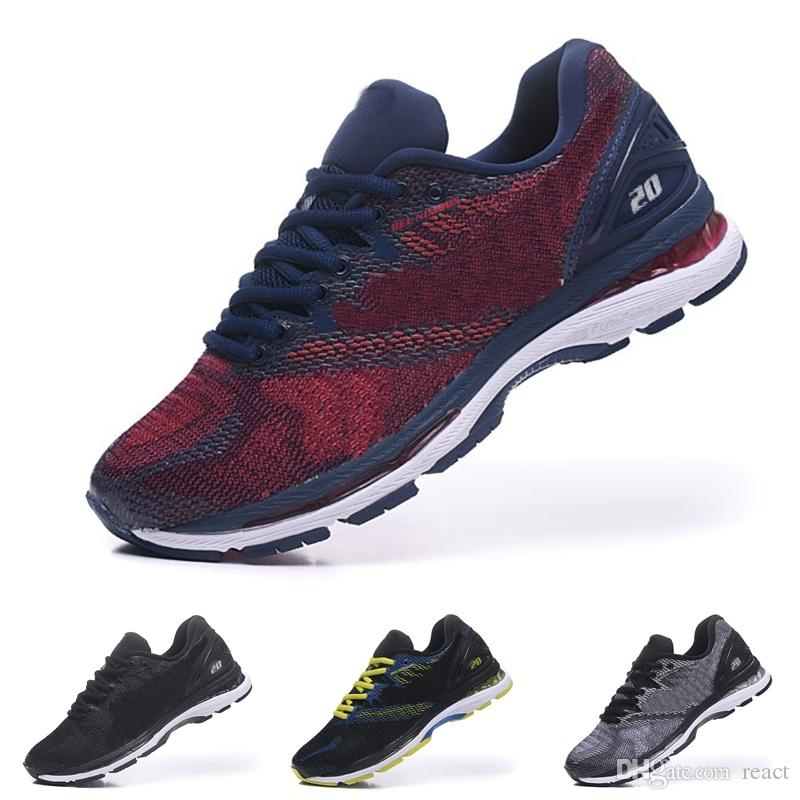 newest 4ea36 627d1 GEL Nimbus 20 Running Shoes Men Shoes New Arrivals Silver Grey Breathable  Discount Sports Shoes Sneakers Size 40.5 45 Tennis Shoes Ladies Shoes From  React, ...