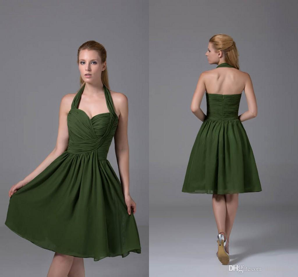 a077f09dd851 Green Tea Length Bridesmaid Dresses - raveitsafe