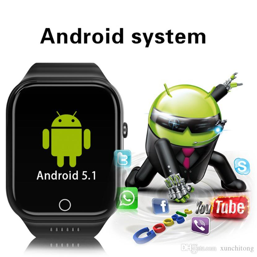 X89 Smart Watches 1.54inch GPS WIFI Android Dual Core Bluetooth Camera 512MB+8GB 3G Call Phone Smart Watch with Battery 600MAH 50 Packs