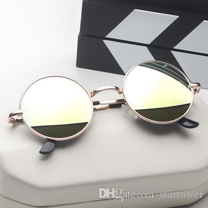 101abb64374e Online Red 2018 New Personality Retro Star Round Sunglasses Male And ...