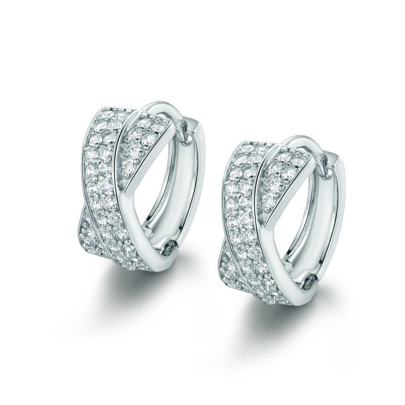 8da78a2f4 2019 Hoop Earrings GULICX Brand 2016 Crystal Pierced Twisted Texture Hoop  Earring For Women Gold Color Earing CZ Zircon Wedding Jewelry E213 From ...
