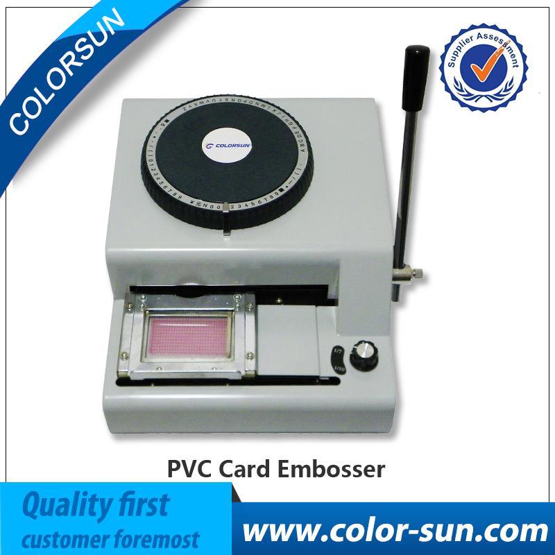 Mnl-6242] credit card embossing plastic manual embosser machine.