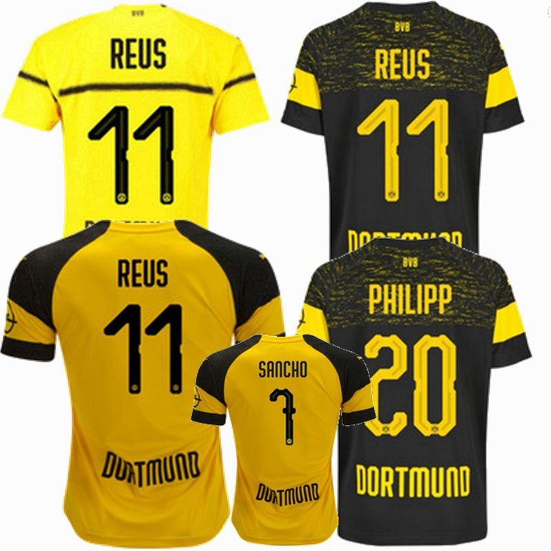 Compre Novo 2018 2019 Borussia Dortmund Camisa De Futebol 18 19 GOTZE  KAGAWA PULISIC REUS Borussia Casa Longe 3 Camisas De Futebol S 2XL De  Xx416764580 4e850b550cbd1