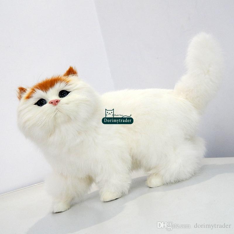 df714821e99b 2019 Dorimytrader Lifelike Cuddly Animal Cat Plush Toy Realistic Animals  Pet Cats Toy Decoration Gift 35 X 20cm DY80020 From Dorimytrader, $41.41 |  DHgate.
