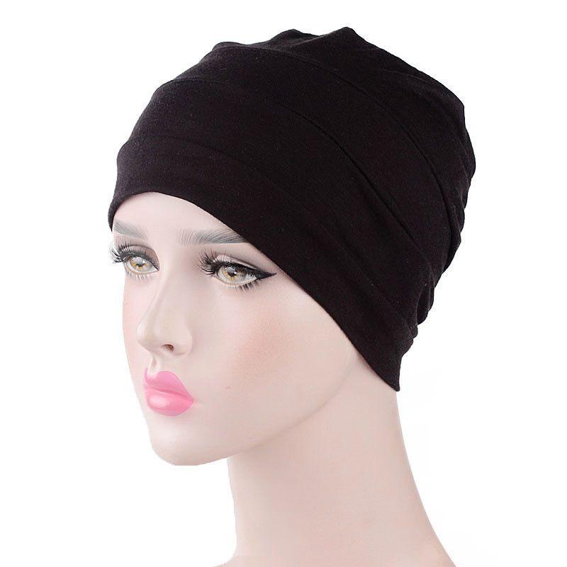 Muslim Indian Women Hat Cancer Chemo Beanie Stretch Turban Cap Lady ... 14e3ee05bc76