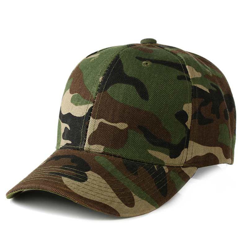 e188944e6c2 2018 Unsiex Fashion Camouflage Baseball Cap Men Adjustable Ball Caps Women  Sunshade Cap For Outdoor Travel Cap Rack Caps From Gerry li