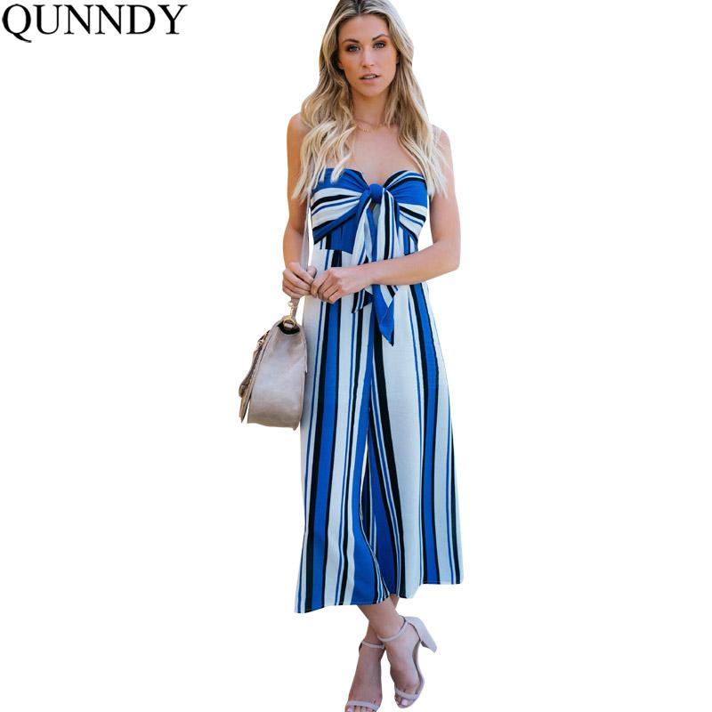 c6ca68f31cc Wholesale 2018 Boho Rompers Womens Jumpsuit Sexy Off Shoulder Casual Loose  Striped Playsuits Beach Wear Backless Summer Overalls Online with   52.1 Piece on ...