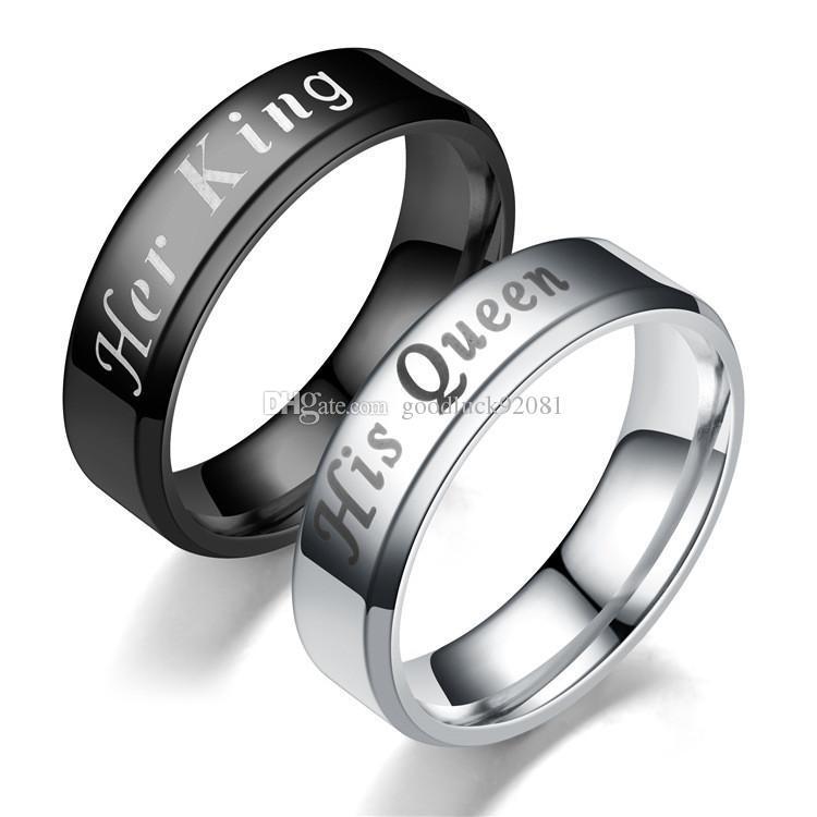 Grosshandel Mode Hochzeit Ringe Sets Neue Ankunft Edelstahl Paare