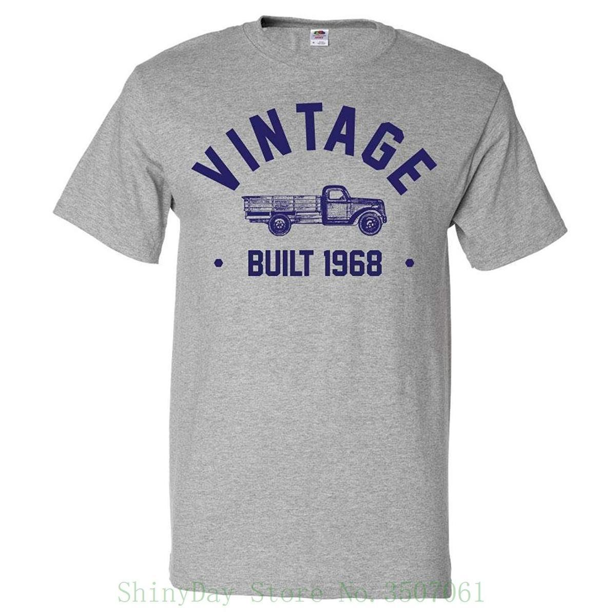 50th Birthday Gift T Shirt 50 Years Old Present 1968 Truck Tee Different Colours High Quality 100 Cotton Shirts White From Amesion76