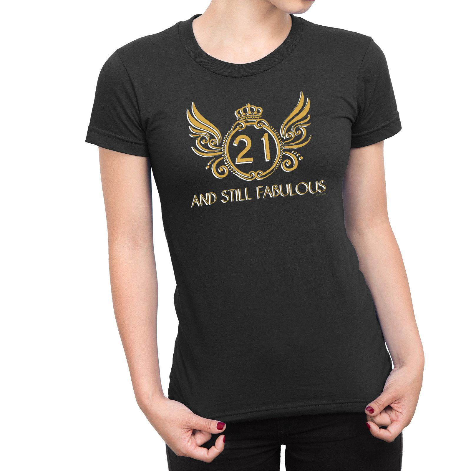 Details Zu Ladies 21st BIRTHDAY TShirt FABULOUS GOLD 21 Years Old Gift Twenty One T Shirts Shop Online Of From Lukehappy14 1296