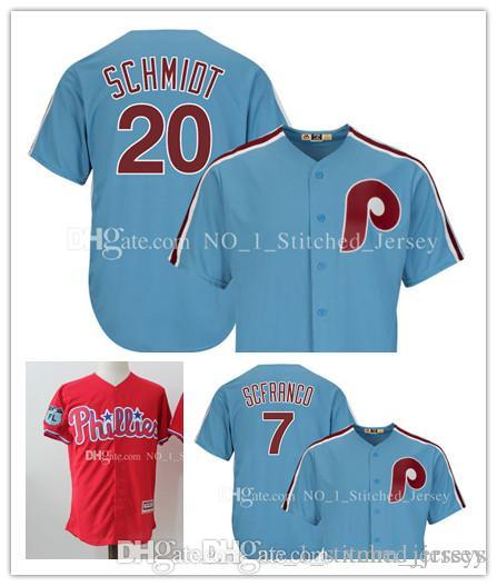 Philadelphia Phillies Mike Schmidt Maikel Franco Jersey Majestic Light Blue  Cooperstown Cool Base Baseball Jerseys Williams Daulton Dykstra Canada 2019  From ... cd8b9067a02