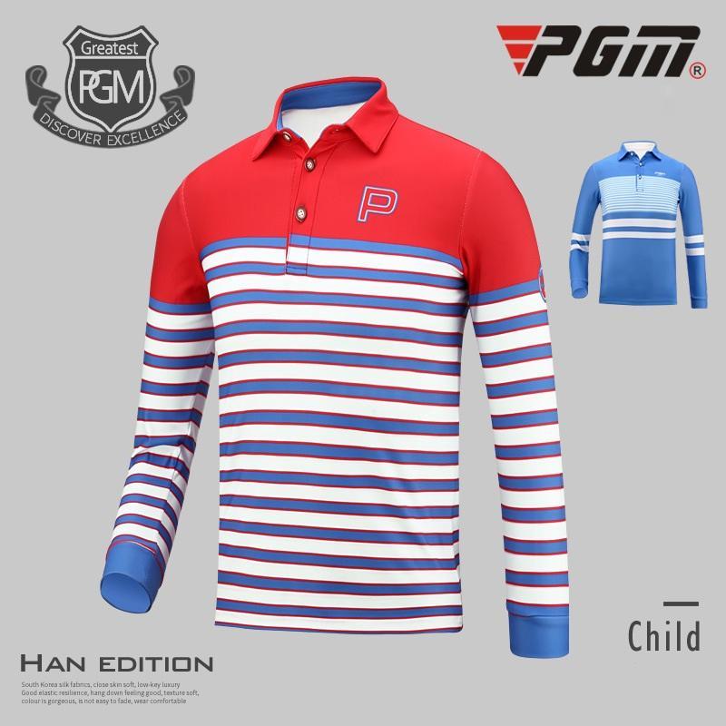 Compre Pgm Golf Roupas Meninos Longo Luva Camisa Polo Outono E Inverno  Listrado Camisas Crianças Gola Tops De Treinamento AA51877 De Jingtianwat 52bfc1d91984c