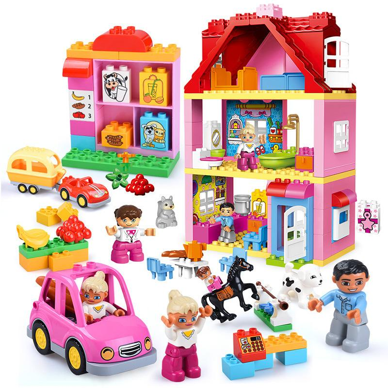 2019 Classic Big Duplo Building Block Set Doll House Educational