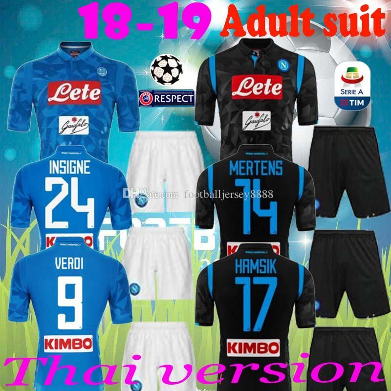 bca7d54b77b93 2019 Adult Suit 2018 NAPOLI NAPLES MARADONA HAMSIK MILIK CAMISETA DE FUTBOL  Soccer Uniform Kits Soccer Jerseys Thailand Quality Football Shirts From ...