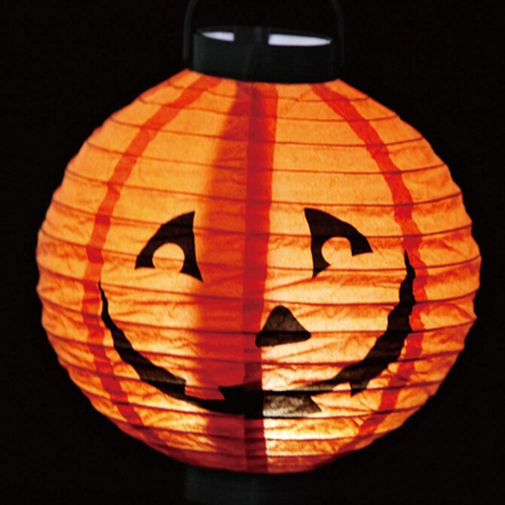 2019 Halloween Decoration Led Paper Pumpkin Light Up Toy Lantern