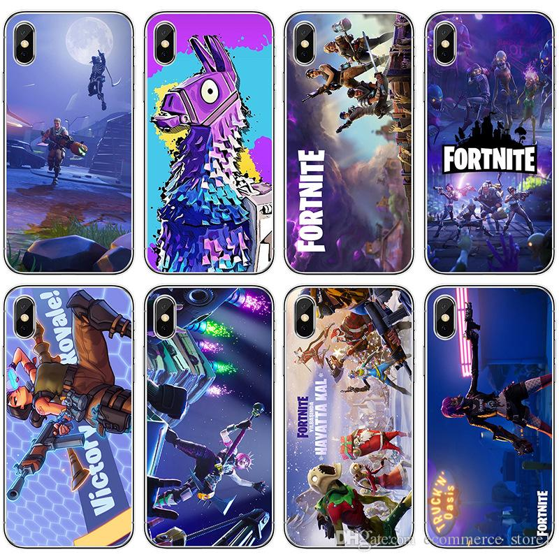 brand new 48080 841ce battle royale fortnite phone case soft Silicone tpu for iPhone X 6 7 8 plus  5 5s 6s se for Apple 10 ten TPU