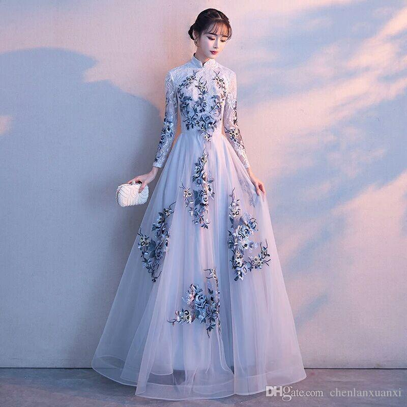2018 2017 New Winter Long Sleeved Evening Gown, The Hostess Grace ...